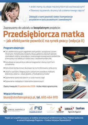 Projekt Przedsiębiorcza Matka. Edycja 2 - Strefa Inspiracji