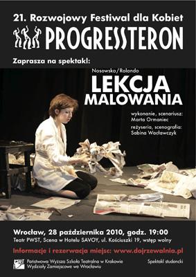 "Spektakl ""Lekcja Malowania"" - 21. Festiwal PROGRESSteron"